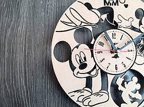 Часы на стену в детскую комнату 7Arts Веселый Микки Маус CL-0153, фото 3