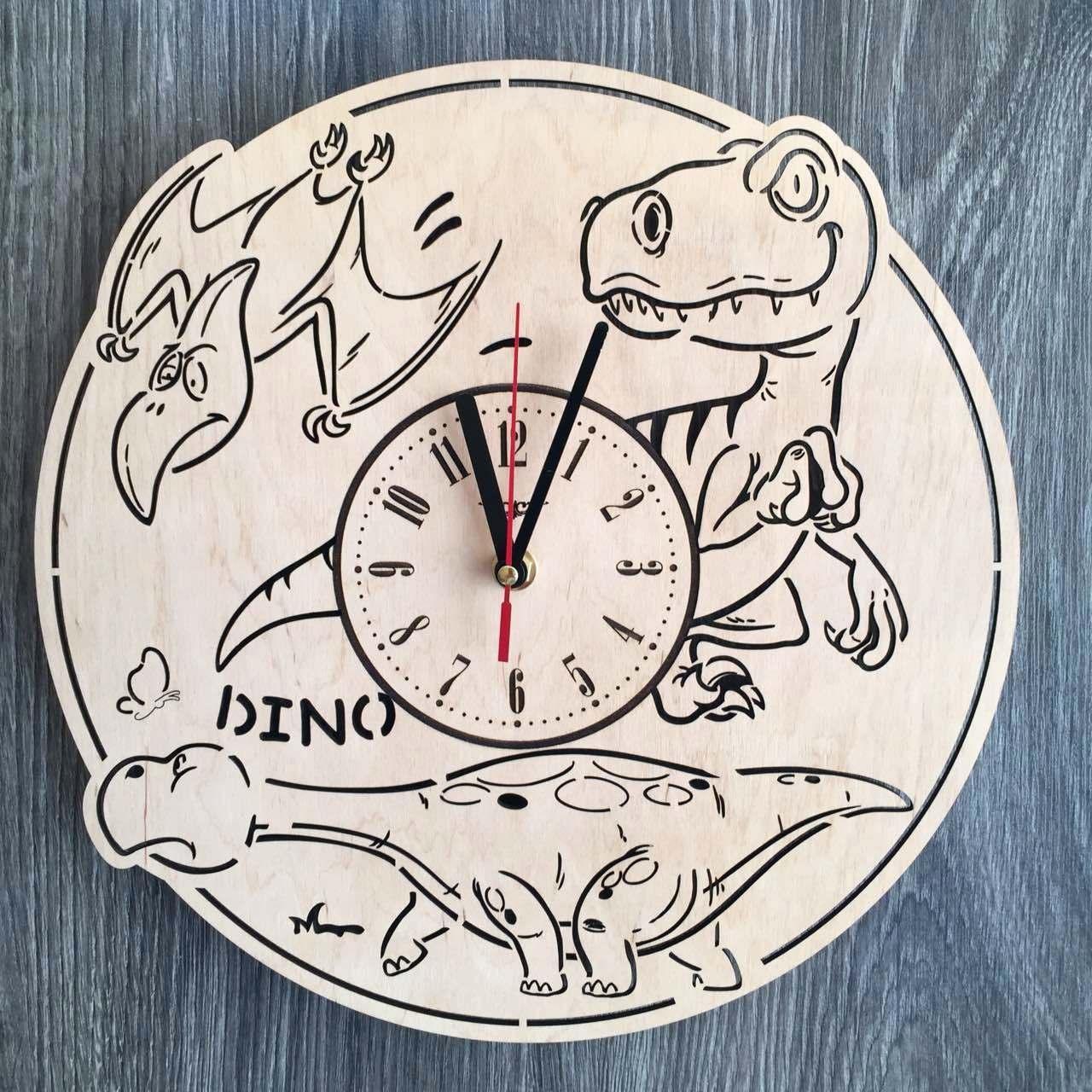 Часы детские из дерева 7Arts Эра динозавров CL-0157