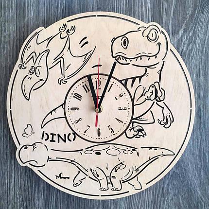 Часы детские из дерева 7Arts Эра динозавров CL-0157, фото 2