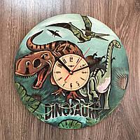 Красивые цветные детские часы из дерева 7Arts Эпоха динозавров CL-0159