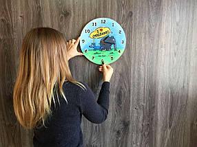 Кольорові хендмейд годинник з дерева 7Arts Слоник Оттифантен CL-0161, фото 3