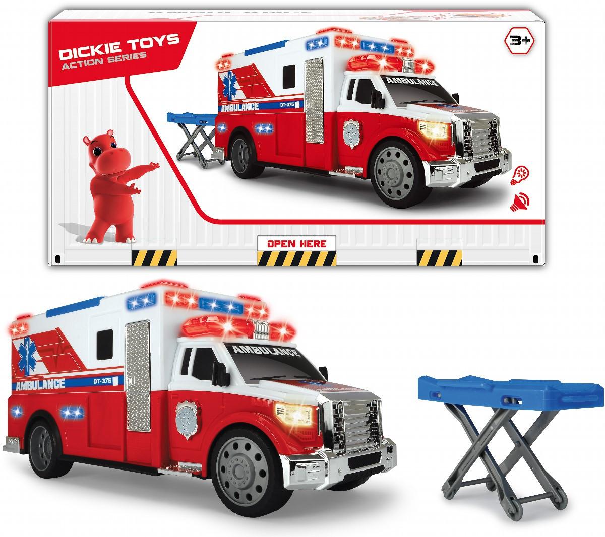 Детская машина скорой помощи Dickie Toys со светом и звуком машинка для мальчика 3308381