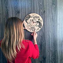 Настенные часы из дерева в женский салон красоты 7Arts CL-0173, фото 3
