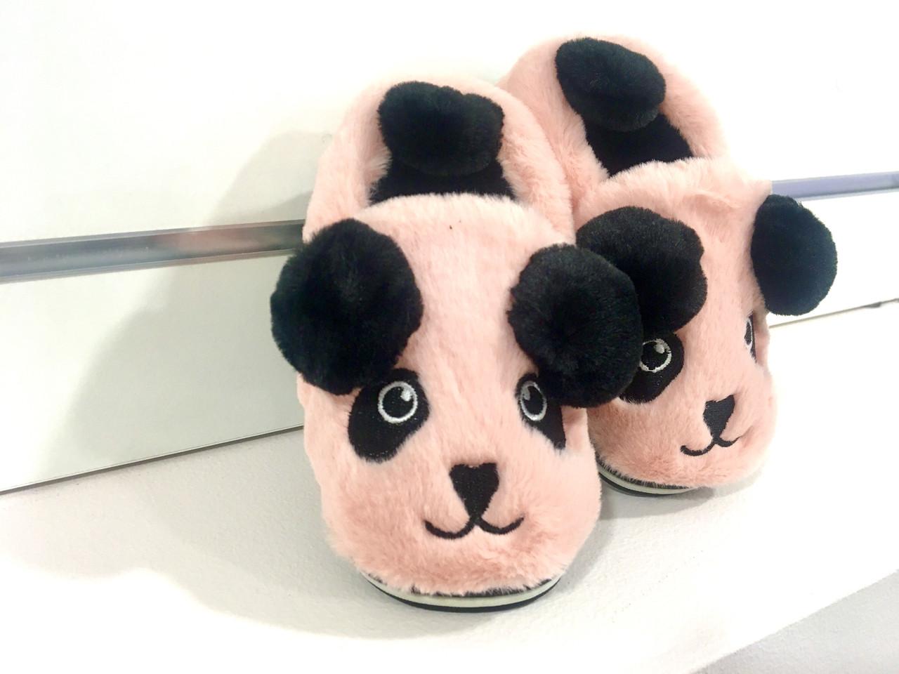 Дитячі утеплені тапочки Панда