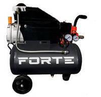 Повітряний тихий масляний компресор FORTE з ресивером 24л для будинку, гаража, шиномонтажу