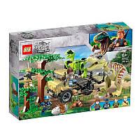 """Конструктор 82162 (АналогLegoJurassic World) """"Динозавры тиранозавр и раптор""""450 деталей"""