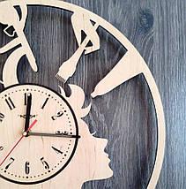 Круглые большие деревянные часы в парикмахерскую 7Arts CL-0196, фото 3