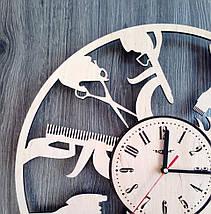 Круглые большие деревянные часы в парикмахерскую 7Arts CL-0196, фото 2