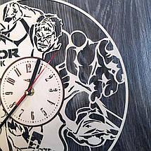 Круглые концептуальные часы из дерева 7Arts Тор CL-0198, фото 3
