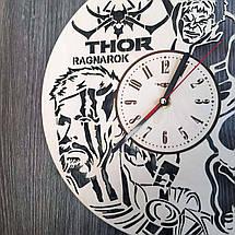 Круглые концептуальные часы из дерева 7Arts Тор CL-0198, фото 2