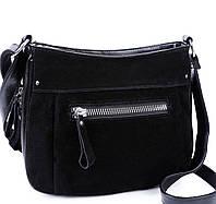 Женская замшевая сумка XY-022AAA Black замшевые сумки, замшевые клатчи  Одесса 7 км