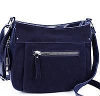 Женская замшевая сумка XY-022AAA Blue замшевые сумки, замшевые клатчи  Одесса 7 км