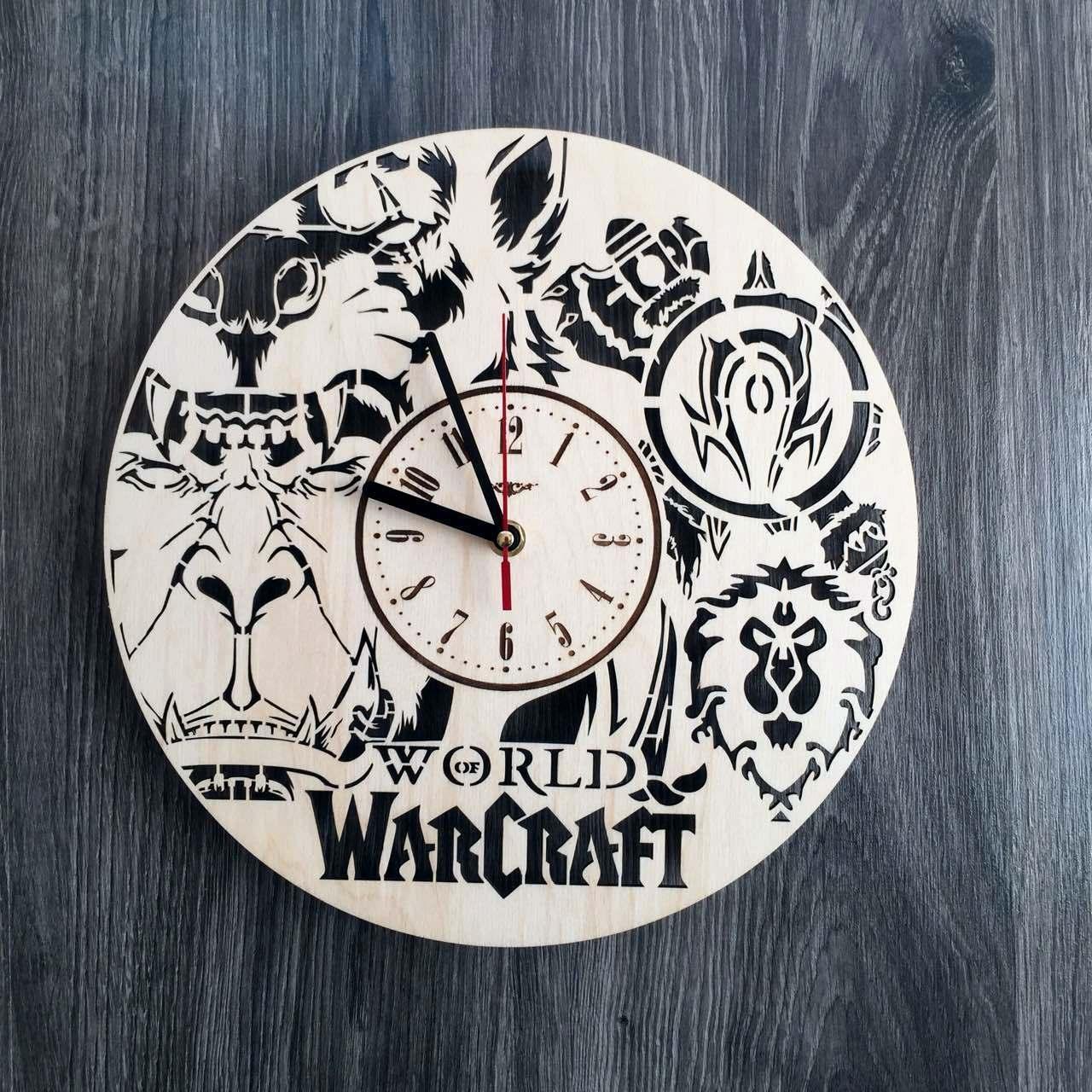 Настінні годинники з дерева в стилі фентезі Варкрафт CL-0214
