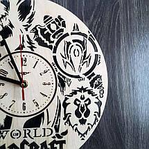 Настінні годинники з дерева в стилі фентезі Варкрафт CL-0214, фото 3