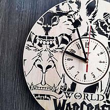 Настінні годинники з дерева в стилі фентезі Варкрафт CL-0214, фото 2