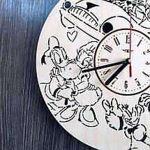 Дизайнерские деревянные настенные часы в детскую Дональд Дак и Дейзи Дак CL-0215, фото 3