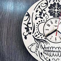 Стильные настенные деревянные часы в готическом стиле CL-0222, фото 3