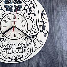 Стильные настенные деревянные часы в готическом стиле CL-0222, фото 2