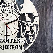 Часы круглые настенные из дерева Пираты Карибского моря CL-0224, фото 2