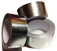 Скотч алюминиевый (фольгированный) усиленный армирующей пленкой AL+ PET 100мм (40м)