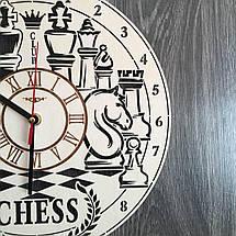 Дерев'яні годинник на стіну Шахи CL-0228, фото 2