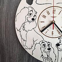 Настенные часы из дерева в детскую Леди и Бродяга CL-0229, фото 2
