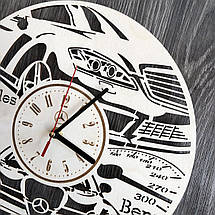 Стильні годинники з дерева настінні Mercedes-Benz CL-0235, фото 2