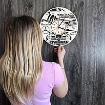 Стильні годинники з дерева настінні Mercedes-Benz CL-0235, фото 3
