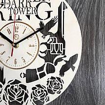 Круглые настенные часы из дерева Тёмная башня CL-0238, фото 3
