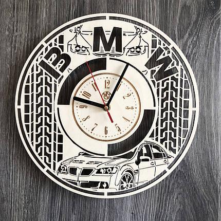 Стильные часы из дерева настенные BMW CL-0246, фото 2