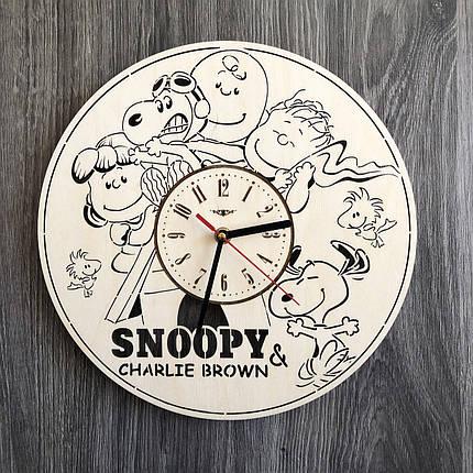 Бесшумные настенные часы в детскую Снупи CL-0250, фото 2