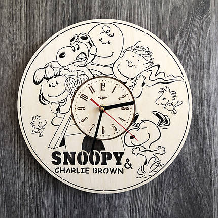 Безшумні настінні годинники в дитячу Снупі CL-0250, фото 2