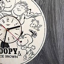 Бесшумные настенные часы в детскую Снупи CL-0250, фото 3