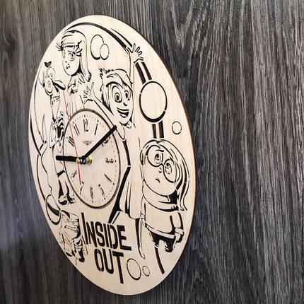 Круглые бесшумные настенные часы из дерева Головоломка CL-0257, фото 2