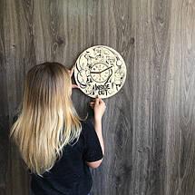 Круглые бесшумные настенные часы из дерева Головоломка CL-0257, фото 3
