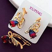 Красивые серьги женские, медицинское золото Xuping