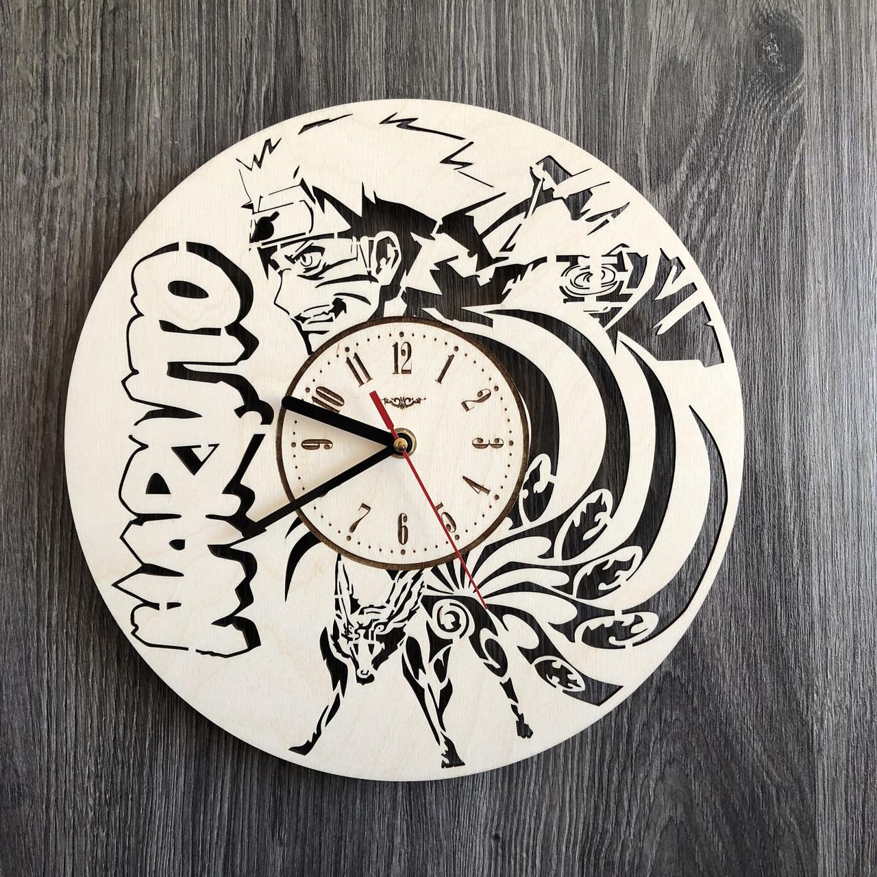 Деревянные настенные часы Наруто CL-0262