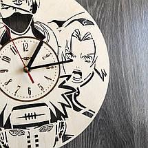 Настінні годинники з дерева за мотивами аніме Наруто CL-0263, фото 3