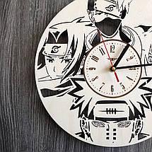 Настінні годинники з дерева за мотивами аніме Наруто CL-0263, фото 2