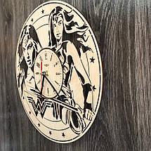Часы деревянные настенные Чудо-женщина CL-0267, фото 2
