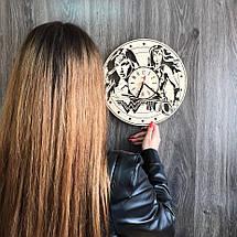 Годинники настінні дерев'яні Диво-жінка CL-0267, фото 3