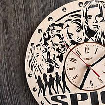 Безшумні настінні годинники з дерева Spice Girls CL-0282, фото 3