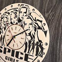 Безшумні настінні годинники з дерева Spice Girls CL-0282, фото 2