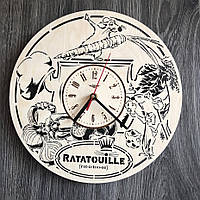 Бесшумные детские настенные часы из дерева Рататуй CL-0283
