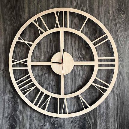 Бесшумные настенные часы из дерева в интерьер с универсальным дизайном CL-0287, фото 2