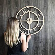 Бесшумные настенные часы из дерева в интерьер с универсальным дизайном CL-0287, фото 3