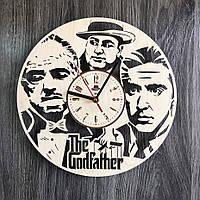 Круглые большие часы из дерева в гостиную Крестный отец CL-0288