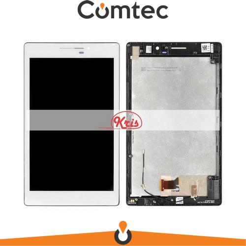 Дисплей для Asus ZenPad 7.0 Z370C с тачскрином (Модуль) белый, с передней панелью (рамкой)