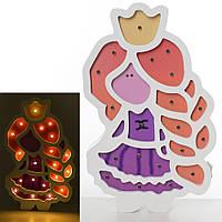 Деревяннаяянная игрушка Ночник MD 2156  принцесса