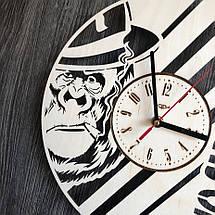 Бесшумные настенные часы из дерева круглые NO SMOKING CL-0296, фото 3